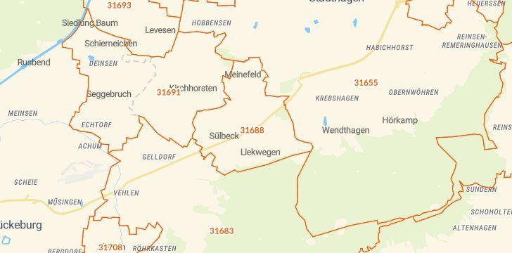 Straßenkarte mit Hausnummern Nienstädt