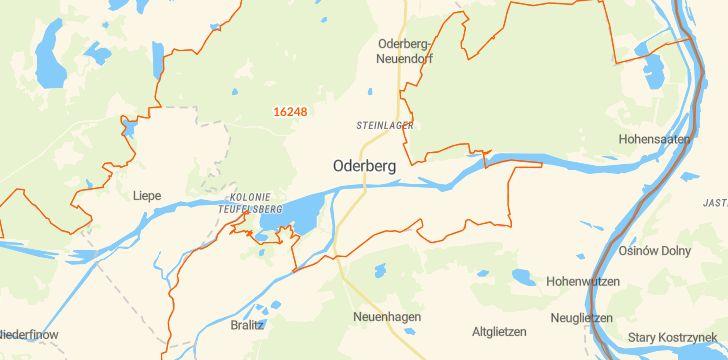Straßenkarte mit Hausnummern Oderberg