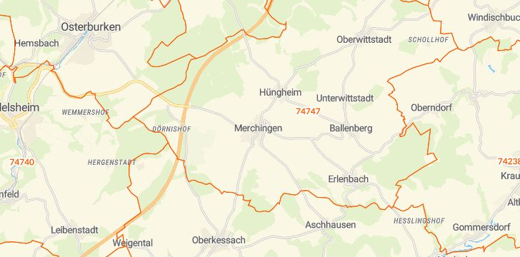 Straßenkarte mit Hausnummern Ravenstein