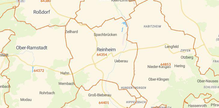 Straßenkarte mit Hausnummern Reinheim