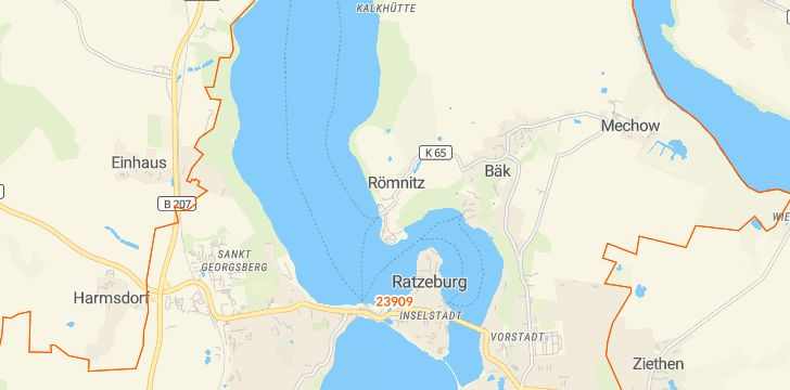 Straßenkarte mit Hausnummern Römnitz