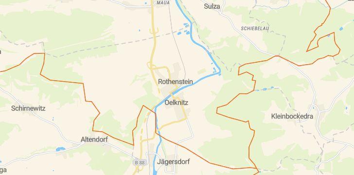 Straßenkarte mit Hausnummern Rothenstein