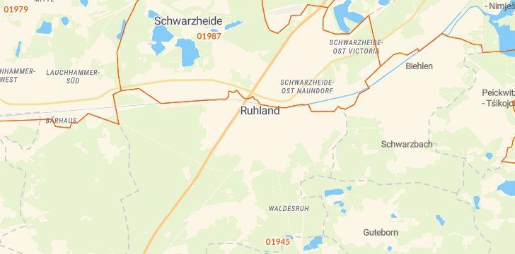 Straßenkarte mit Hausnummern Ruhland