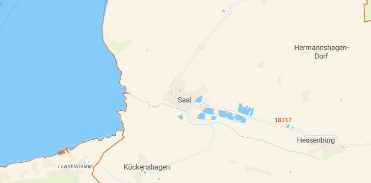 Straßenkarte mit Hausnummern Saal (Vorpommern)