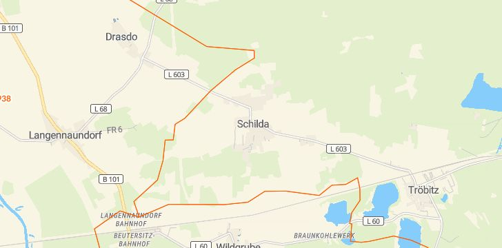 Straßenkarte mit Hausnummern Schilda