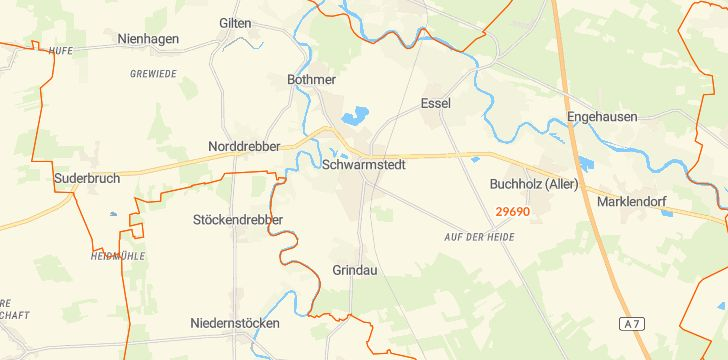 Straßenkarte mit Hausnummern Schwarmstedt