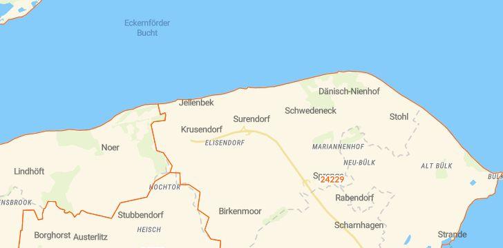 Straßenkarte mit Hausnummern Schwedeneck
