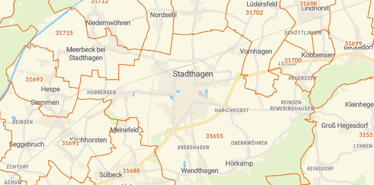 Straßenkarte mit Hausnummern Stadthagen