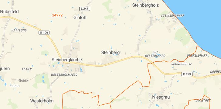 Straßenkarte mit Hausnummern Steinberg (Schleswig)