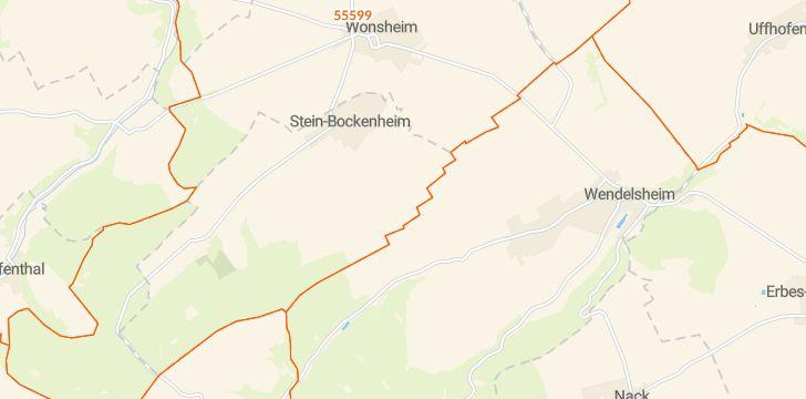 Straßenkarte mit Hausnummern Stein-Bockenheim