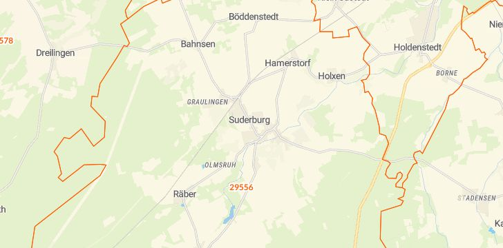 Straßenkarte mit Hausnummern Suderburg