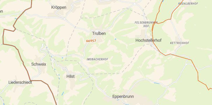 Straßenkarte mit Hausnummern Trulben