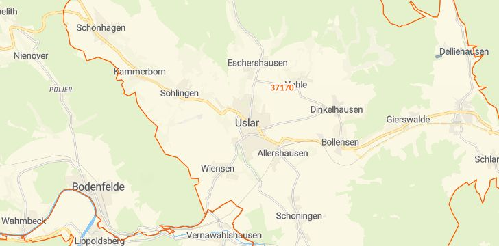 Straßenkarte mit Hausnummern Uslar