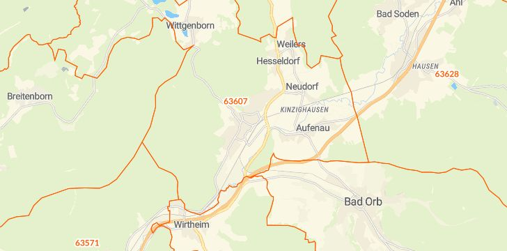 Straßenkarte mit Hausnummern Wächtersbach