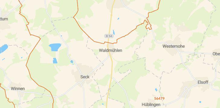 Straßenkarte mit Hausnummern Waldmühlen