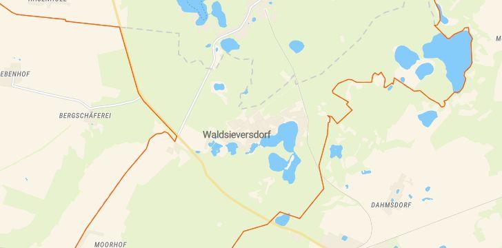 Straßenkarte mit Hausnummern Waldsieversdorf