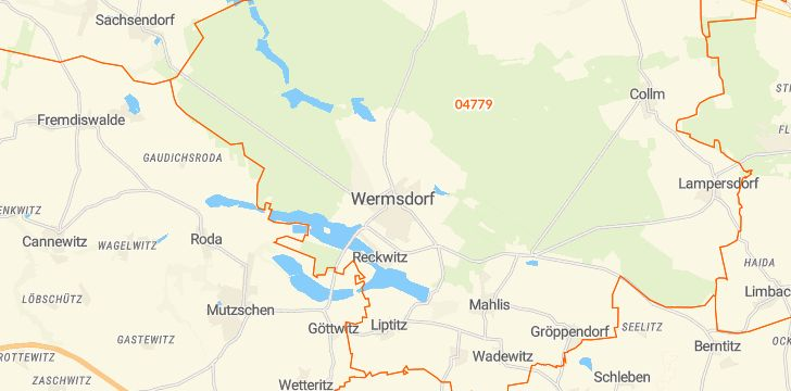 Straßenkarte mit Hausnummern Wermsdorf