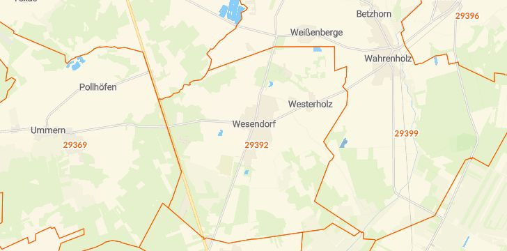 Straßenkarte mit Hausnummern Wesendorf