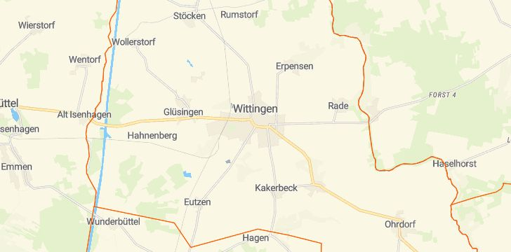 Straßenkarte mit Hausnummern Wittingen