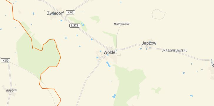 Straßenkarte mit Hausnummern Wolde