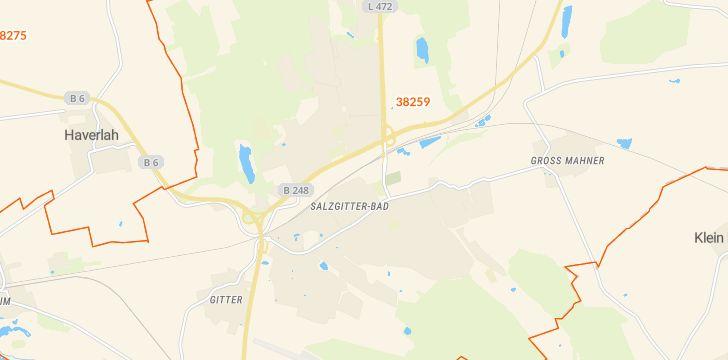 Straßenkarte mit Hausnummern Bad