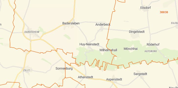 Straßenkarte mit Hausnummern Huy
