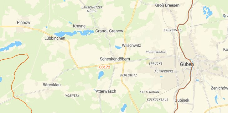 Straßenkarte mit Hausnummern Schenkendöbern