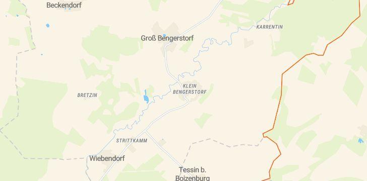 Straßenkarte mit Hausnummern Bengerstorf