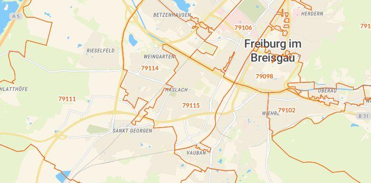 Straßenkarte mit Hausnummern Haslach