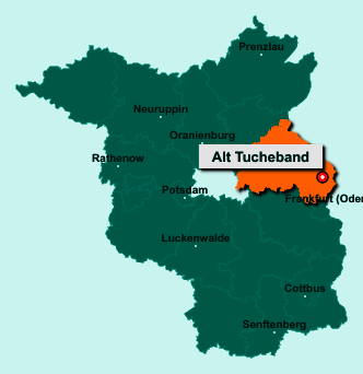 Der Lageplan von 15328 Alt Tucheband zeigt die Position im Landkreis Märkisch-Oderland - Der Ort liegt im Bundesland Brandenburg