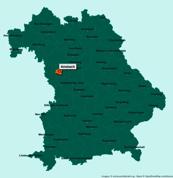 Bad Ansbach karte ansbach und umgebung creactie