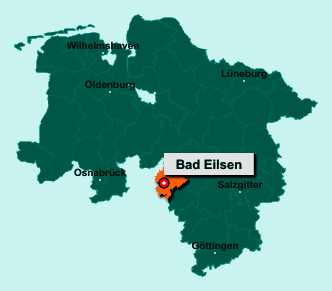 Der Lageplan von 31707 Bad Eilsen zeigt die Position im Landkreis Schaumburg - Der Ort liegt im Bundesland Niedersachsen