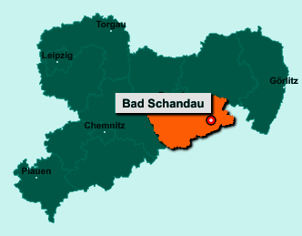 Die Karte von Bad Schandau zeigt die Lage im Landkreis Sächsische Schweiz-Osterzgebirge - Der Ort 01814 Bad Schandau liegt im Bundesland Sachsen