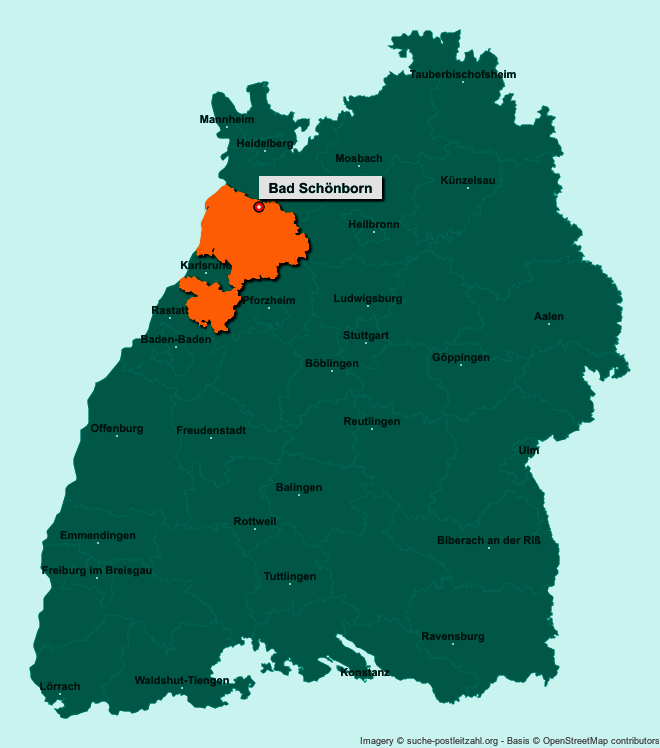 Postleitzahl Bad Schönborn