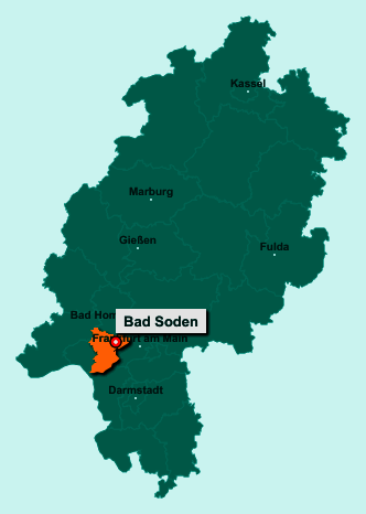 Der Lageplan von 65812 Bad Soden zeigt die Position im Main-Taunus-Kreis - Der Ort liegt im Bundesland Hessen