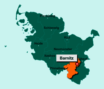 Die Karte von Barnitz zeigt die Lage im Kreis Stormarn - Der Ort 23858 Barnitz liegt im Bundesland Schleswig-Holstein