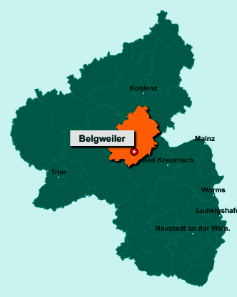 Die Karte von Belgweiler zeigt die Lage im Rhein-Hunsrück-Kreis - Der Ort 55469 Belgweiler liegt im Bundesland Rheinland-Pfalz