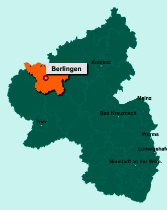 Die Karte von Berlingen zeigt die Lage im Landkreis Vulkaneifel - Der Ort 54570 Berlingen liegt im Bundesland Rheinland-Pfalz