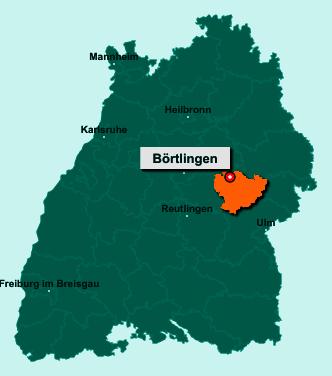 Die Karte von Börtlingen zeigt die Lage im Landkreis Göppingen - Der Ort 73104 Börtlingen liegt im Bundesland Baden-Württemberg