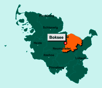 Die Karte von Boksee zeigt die Lage im Kreis Plön - Der Ort 24220 Boksee liegt im Bundesland Schleswig-Holstein