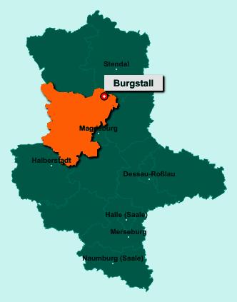 Die Karte von Burgstall zeigt die Lage im Landkreis Börde - Der Ort 39517 Burgstall liegt im Bundesland Sachsen-Anhalt