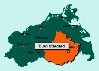 Die Karte von Burg Stargard zeigt die Lage im Landkreis Mecklenburgische Seenplatte - Der Ort 17094 Burg Stargard liegt im Bundesland Mecklenburg-Vorpommern