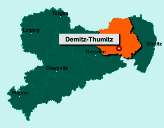 Die Karte von Demitz-Thumitz zeigt die Lage im Landkreis Bautzen - Der Ort 01877 Demitz-Thumitz liegt im Bundesland Sachsen