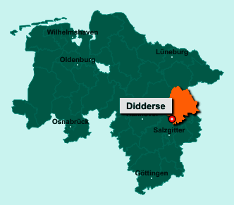 Die Karte von Didderse zeigt die Lage im Landkreis Gifhorn - Der Ort 38530 Didderse liegt im Bundesland Niedersachsen