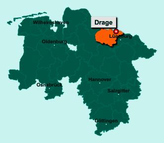 Die Karte von Drage zeigt die Lage im Landkreis Harburg - Der Ort 21423 Drage liegt im Bundesland Niedersachsen