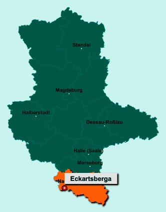 Die Karte von Eckartsberga zeigt die Lage im Burgenlandkreis - Der Ort 06648 Eckartsberga liegt im Bundesland Sachsen-Anhalt