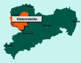 Die Karte von Elstertrebnitz zeigt die Lage im Landkreis Leipzig - Der Ort 04523 Elstertrebnitz liegt im Bundesland Sachsen