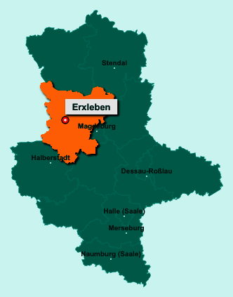Der Lageplan von 39343 Erxleben zeigt die Position im Landkreis Börde - Der Ort liegt im Bundesland Sachsen-Anhalt