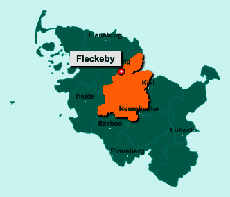 Der Lageplan von 24357 Fleckeby zeigt die Position im Kreis Rendsburg-Eckernförde - Der Ort liegt im Bundesland Schleswig-Holstein