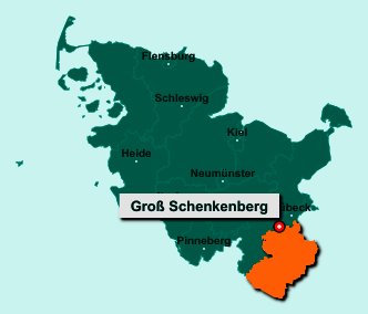 Die Karte von Groß Schenkenberg zeigt die Lage im Kreis Herzogtum Lauenburg - Der Ort 23860 Groß Schenkenberg liegt im Bundesland Schleswig-Holstein